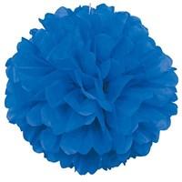 Pandoli 1 Adet Mavi Renk Pelur Kağıt Ponpon Çiçek 25 Cm Asma Süs