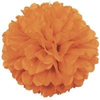 Pandoli 1 Adet Orange Renk Pelur Kağıt Ponpon Çiçek 25 Cm Asma Süs
