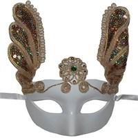 Pandoli Beyaz Venedik Maskesi