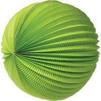 Pandoli 30 Cm Akordiyon Yuvarlak Fener Süs Yeşil Renk