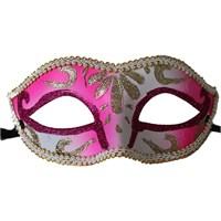 Pandoli Sim İşlemeli Parti Maskesi Pembe Renk