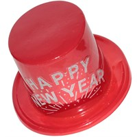 Pandoli Kırmızı Renk Happy New Year Yılbaşı Şapkası