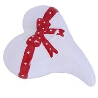 Pandoli 10 Cm Kurdelalı Kalp Şeklinde Beyaz Renk Parti Mumu 1 Adet