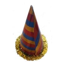 Pandoli Çizgili Büyük Boy Karton Külah Parti Şapkası 1 Adet