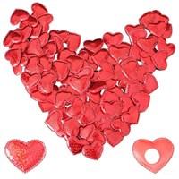 Pandoli 100 Adet Yapışkanlı Kalp Süsler 4 Cm