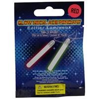 Pandoli İkili Neonlu Glow Stick Parti Çubuğu Kırmızı Renk