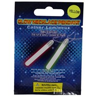 Pandoli Neonlu Glow Stick İkili Parti Kolyesi Sarı Renk
