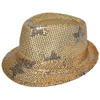 Pandoli Yıldızlı Pullu Dansçı Şapkası Altın Renk