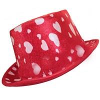 Pandoli Keçe Kalpli Melon Parti Şapkası