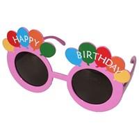 Pandoli Pembe Happy Birthday Gözlüğü