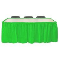 Pandoli Yeşil Renk Plastik Masa Eteği