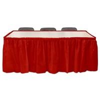 Pandoli Kırmızı Renk Plastik Masa Eteği