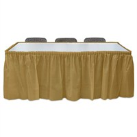 Pandoli Altın Renk Plastik Masa Eteği