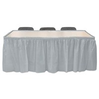 Pandoli Gümüş Renk Plastik Masa Eteği