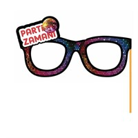 Pandoli Parti Zamanı Yazılı Sopalı Parti Gözlüğü