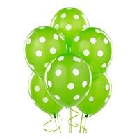 Pandoli 100 Adet Yeşil Beyaz Puanlı Baskılı Latex Balon
