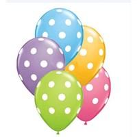 Pandoli 10 Adet Karışık Renkli Puanlı Baskılı Latex Balon