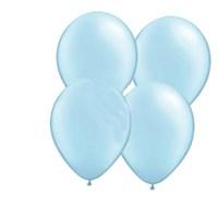 Pandoli Bebek Mavisi Metalik 25 Adet Düz Renk Sedefli Latex Balon