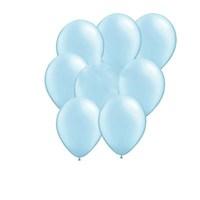 Pandoli Bebek Mavisi Metalik Düz Renk Sedefli Latex Balon 100 Adet