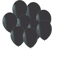 Pandoli Siyah Düz Renk 100 Adet Latex Balon
