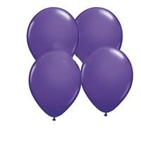 Pandoli Lila Metalik Düz Renk 25 Adet Sedefli Latex Balon