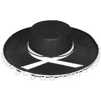 Pandoli Siyah Renk İspanyol Şapkası