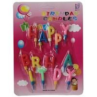 Pandoli Happy Birthday Yazılabilen Parti Mumu