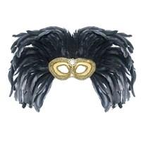 Pandoli Tavus Kuşu Tüylü Büyük Boy Parti Maskesi