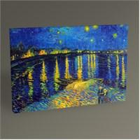 Tablo 360 Vincent Van Gogh-Rhone Nehrinde Yıldızlı Gece Tablo 105X70