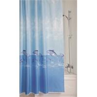 Doğuş Polyester Banyo Perdesi İkili-Yunuslar