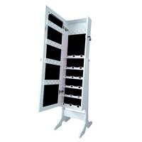 Dream Plus- Kilitli Bileklikli 50Ad Askılı- Aynalı Takı Ve Aksesuar Dolabı Beyaz Siyah