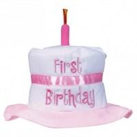 Parti Paketi 1 Yaş Kız Doğum Günü Pasta Şapka