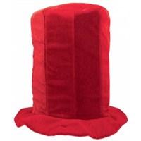 Parti Paketi Uzun Silindir Şapka Kırmızı