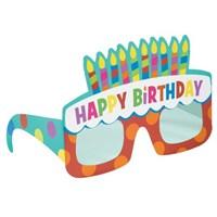 Parti Paketi Doğumgünü Pastası Karton Gözlükler
