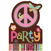 Parti Paketi Hippie Birthday Davetiye