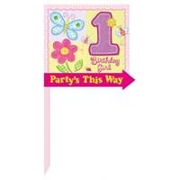 Parti Paketi İlk Yaş Kız Parti Pankartı