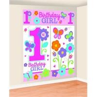 Parti Paketi Tatlı 1 Yaş Kız Duvar Dekoru