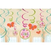 Parti Paketi Baby Girl Süs Dalgaları 12'Li