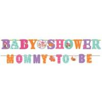 Parti Paketi Baby Girl Baby Shower Banner 2'Li