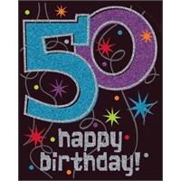 Parti Paketi 50 Yaş Partisi Simli Duvar Dekoru