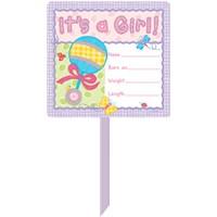 Parti Paketi Hoşgeldin Bebek Kız Parti Pankartı