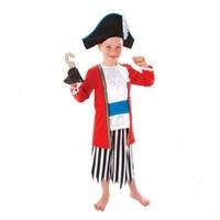 Parti Paketi Korsan Kaptan Kostümü Ve Aksesuarlar 6-8 Yaş