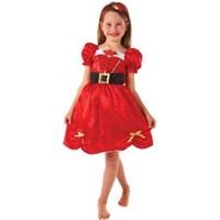 Parti Paketi Noel Kız Kostümü Lüks 3-5 Yaş