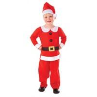 Parti Paketi Noel Çocuk Kostümü Lüks 6-8 Yaş
