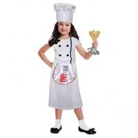 Parti Paketi Şef Aşçı Kız Kostümü 3-6 Yaş