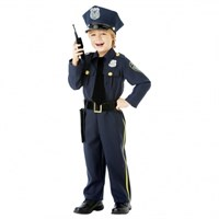 Parti Paketi Polis Kostümü Ve Aksesuarları 4-6 Yaş