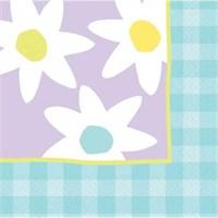 Parti Paketi Pastel Çiçekler Peçete