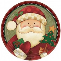 Parti Paketi Noel Baba Büyük Tabak