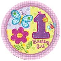Parti Paketi İlk Yaş Kız Tabak 8'Li