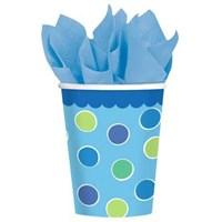 Parti Paketi 1 Yaş Partisi Mavi Cupcake Bardak